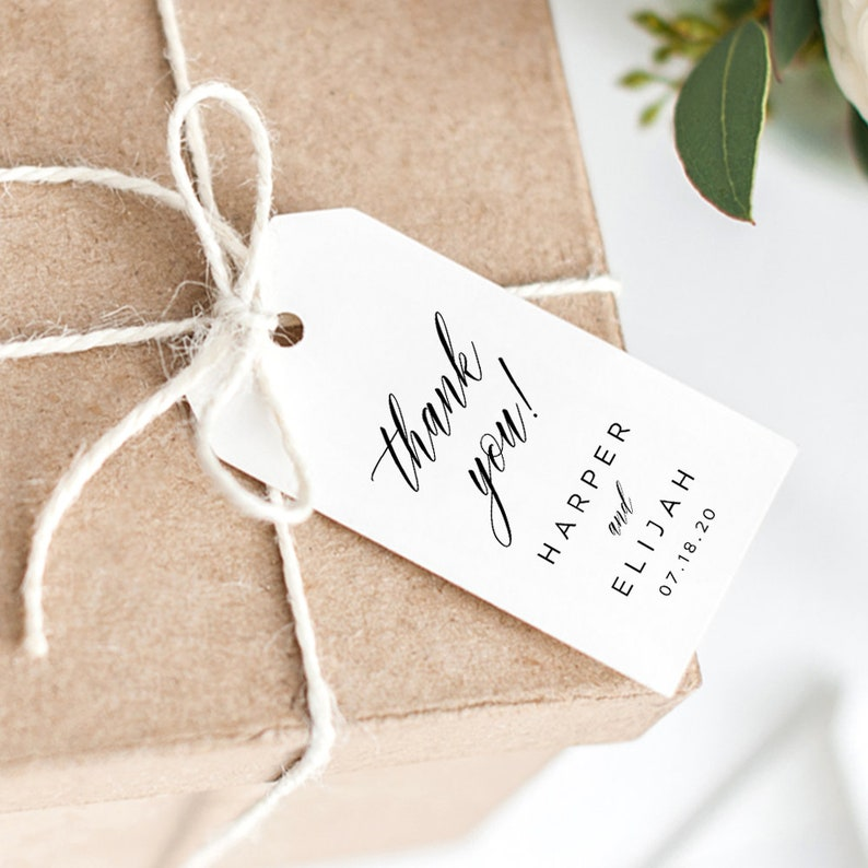 image about Printable Wedding Favor Tags named Black and White Want Tags, Printable Wedding ceremony Choose Tags Template, Editable Marriage Thank Yourself Tags, Present Tags, EDIT inside of TEMPLATE, Harper