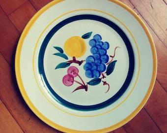 Stangl fruit dinner plate