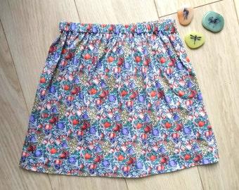Vintage skirt size 4-5, green skirt girl aged 4-5 years, vintage skirt size 4, green skirt size 5, vintage skirt 4 years, skirt 5 years
