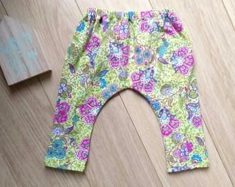 Ethnic pants for baby 6-9 months, green leggings 6 months, baby harem pants 7 months, baby leggings 8 months, green pants baby 9 months