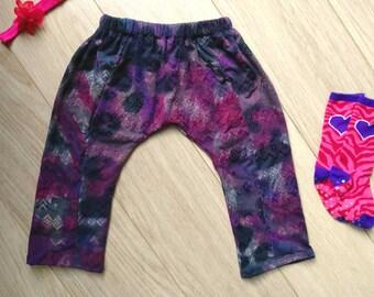Purple harem pants 12-18 months, purple leggings 1 year, purple harem pants 12 months, purple leggings 18 months, purple harem pants 1 year