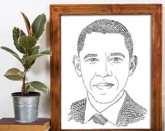 Barack Obama Commemorative Poster