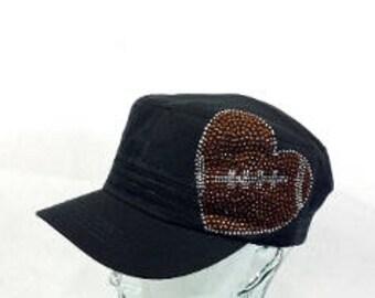 Football  heart cadet hat