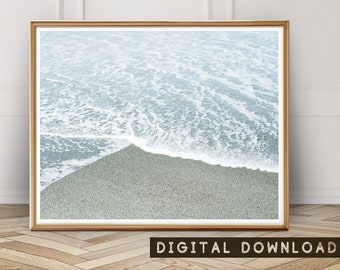 Beach Print, Ocean Art Print, Coastal Wall Art, Scandinavian Print, Ocean Water, Large Printable Wall Art, Beach Art Poster, Printable Art