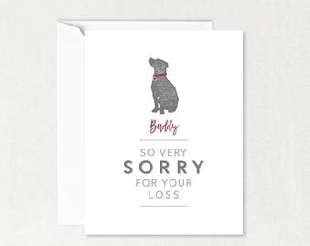 dog sympathy card etsy