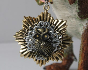 Steampunk Medal with Owl.