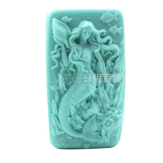 Mermaid Silicone Molds Soap Mould Craft Art Mold Cake 3d Diy Craft Handmade Resi