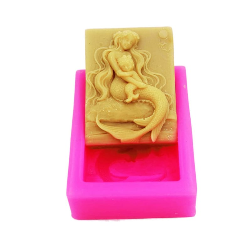 Free shipping 3D Mermaid /& Baby Craft Art Silicone Soap mold Craft Molds DIY Handmade Candle mold Chocolate Mold moulds