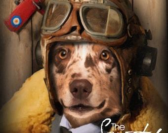 Dog Portrait, Pilot dog portrait, Dog Portrait Custom, Dog Portrait Custom, Pet Portraits, Custom Pet Portraits, Pet Portraits From Photo