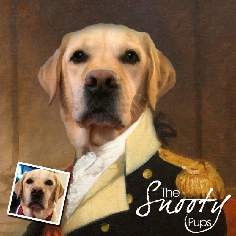 custom pet portrait pet portraits Custom dog portrait regal pet portrait pet lover gift Valentine\u2019s Day Gift regal military