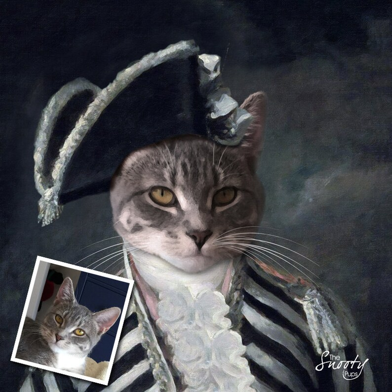 Brilliant Cat Portrait Renaissance Cat Portrait Custom Dog Portrait Custom Cat Portrait Gmtry Best Dining Table And Chair Ideas Images Gmtryco