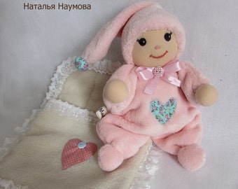 soft toy, Waldorf doll for a child, Waldorf butterfly doll, Waldorf first doll