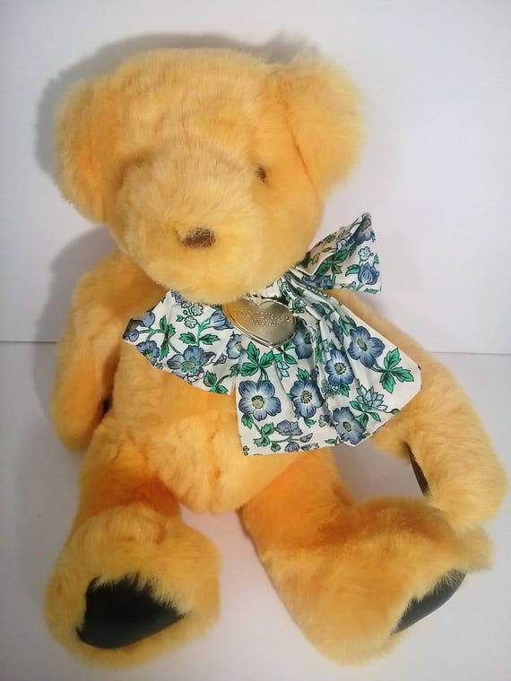 Victoria Secret Gund Vintage Yellow Plush Teddy Bear With Tags Etsy