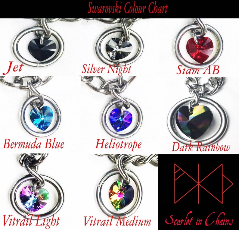 Fetish Bdsm Jewellery Chain Collar Stainless Steel Heart of Hearts Day Collar Goth Collar Bondage Collar Locking Collar