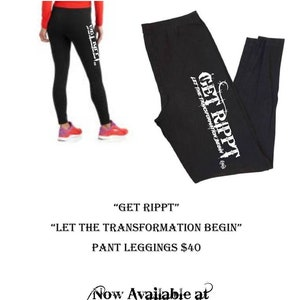 Get Rippt Activewear Capri Leggings Contact for Available Sizes Wearable Art Fitness Health Transformation