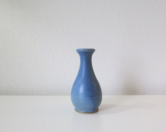 Lovely Light Blue Glazed Bud Vase / Small Ceramic Vase / Studio Pottery / Handmade / Hand Thrown / Stonecraft / New Hampshire / Living
