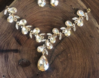 584feb6668 Prom jewelry gold | Etsy
