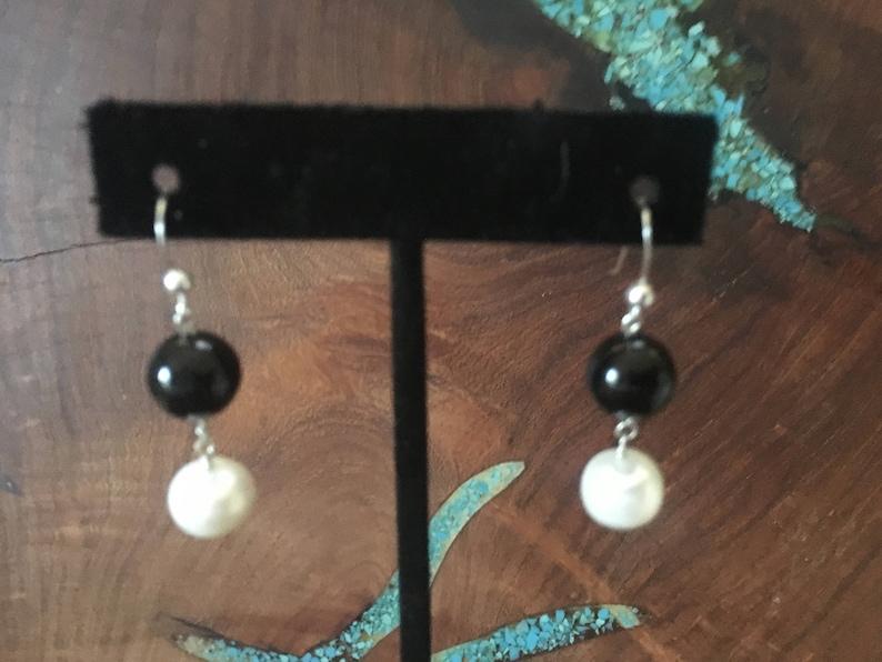 freswater pearl earrings gift for mom pearl dangle earrings Pearl sterling silver earrings natural stones