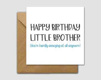 Funny Little Brother Birthday Card