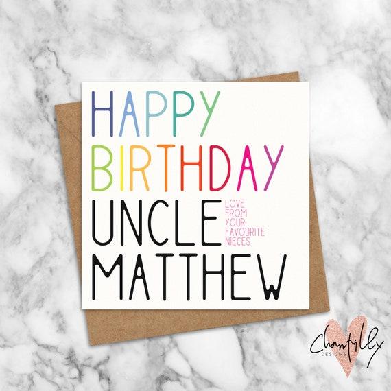 Froh Dass Geburtstag Onkel Karte Favorit Onkel Onkel Etsy