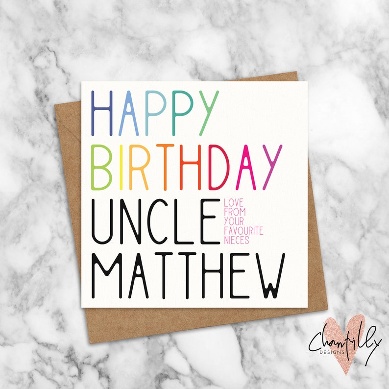 Happy Birthday Uncle Card Favourite