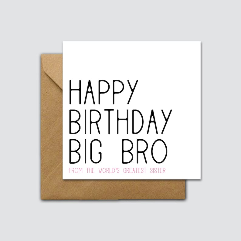 Funny Big Brother Birthday Card