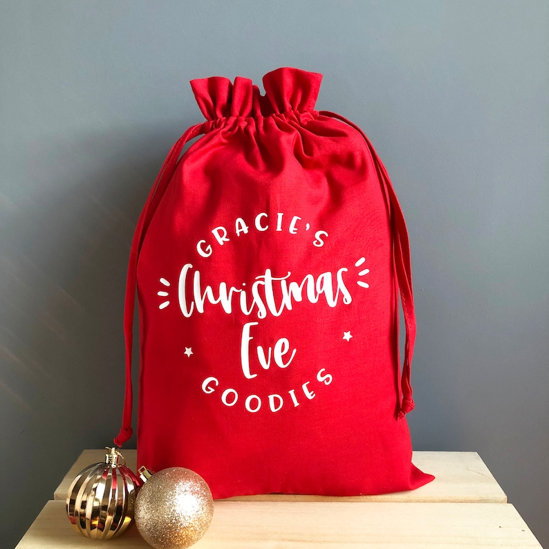 Personalised Christmas Eve Bag Christmas Eve Treats image 0