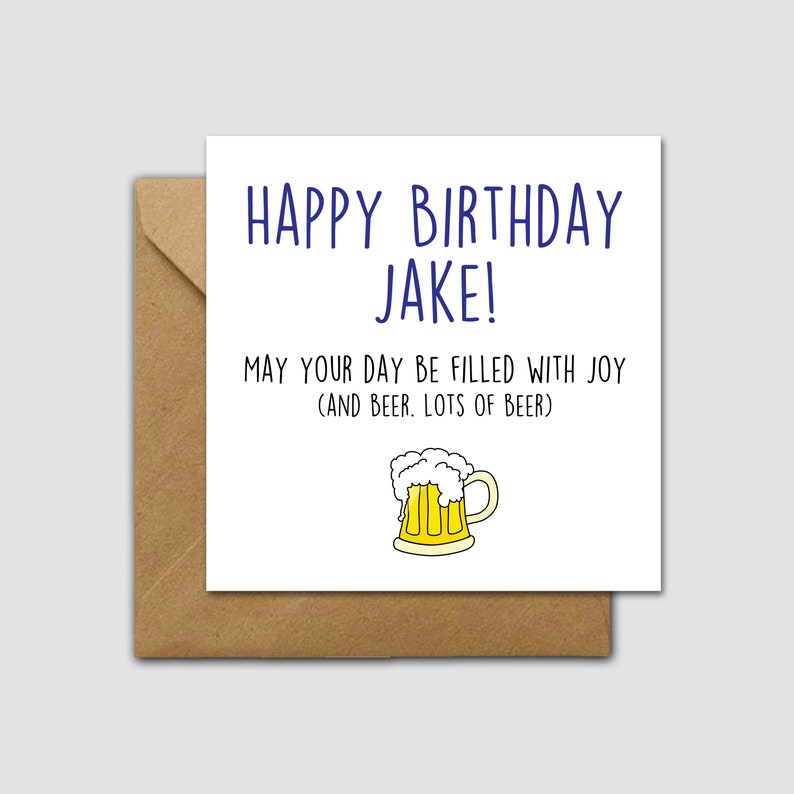 Joy And Beer Birthday Card For Him Funny Mens