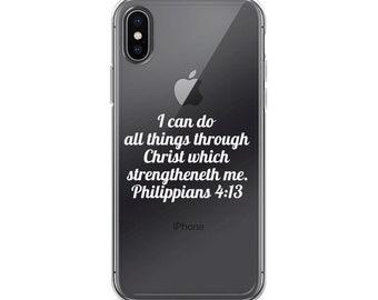 Philippians 4:13 iPhone X Case
