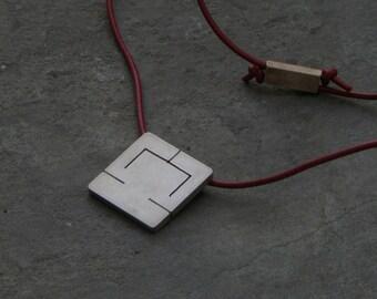 LIBRA star sign. Handmade pendant for men. Sterling silver.