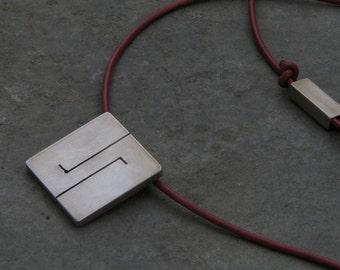 Men's pendant.GEMINI star sign pendant for men. Sterling silver. Handmade.