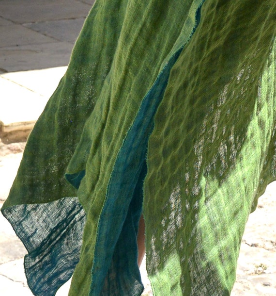 tunic poncho coverup color lace linen with soft long Super Mint CLEO airy HIzaax