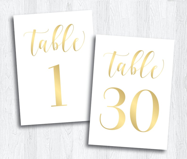 image relating to Free Printable Table Numbers 1-30 named Gold Printable Desk Quantities 1 - 30 Immediate Down load Marriage Printable  Gold Desk Quantities Gatherings Banquet Reception (Glow Fastened)
