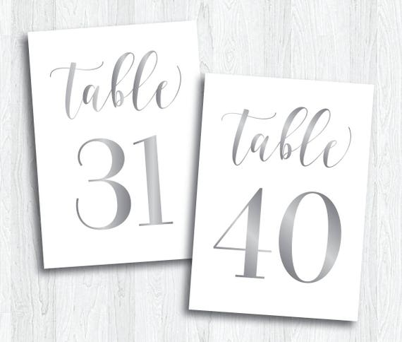 picture relating to Printable Table Number referred to as Silver Printable Desk Figures 31 - 40 Fast Obtain Wedding ceremony Printable Silver Desk Quantities Grey Gray Reception Symptoms (Glow Fixed)