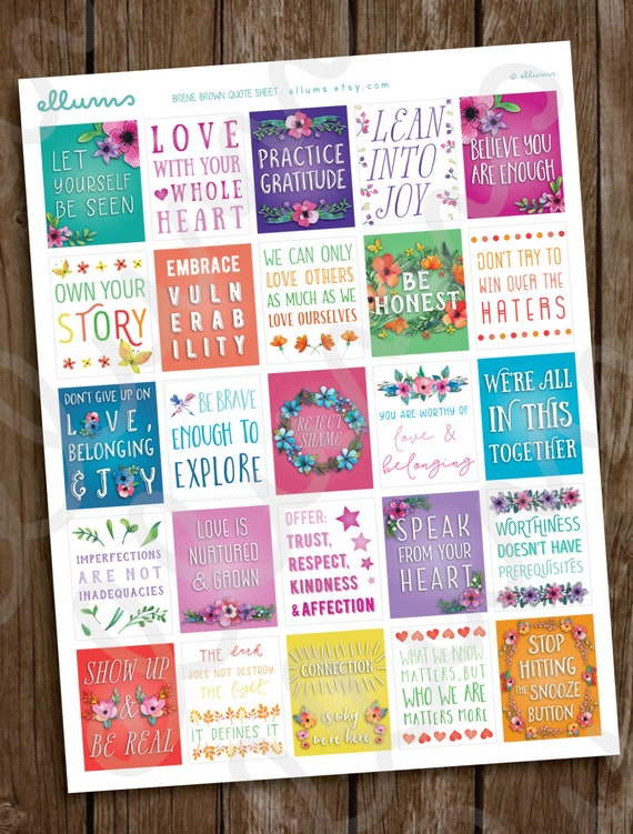 28 Motivational Quote Stickers  Decorative Full boxes  Planner Stickers