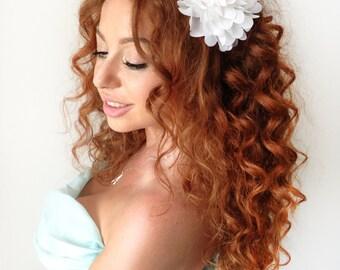 White Flower Crown, Flower Headband, Floral Headband, Floral Crown, Wedding Flower Headband, Floral  Wedding Headband, Hair Piece