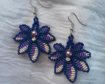 Custom 7-Pointed leaf earrings