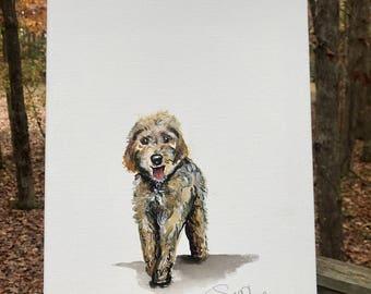 Dog portrait  (11x14 canvas)