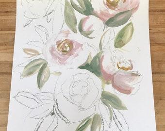 Blush light rose print ! (11x14in)
