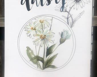 Daisy print 11x14in!