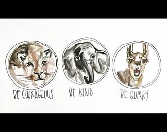 Be kind print 11x14 in!