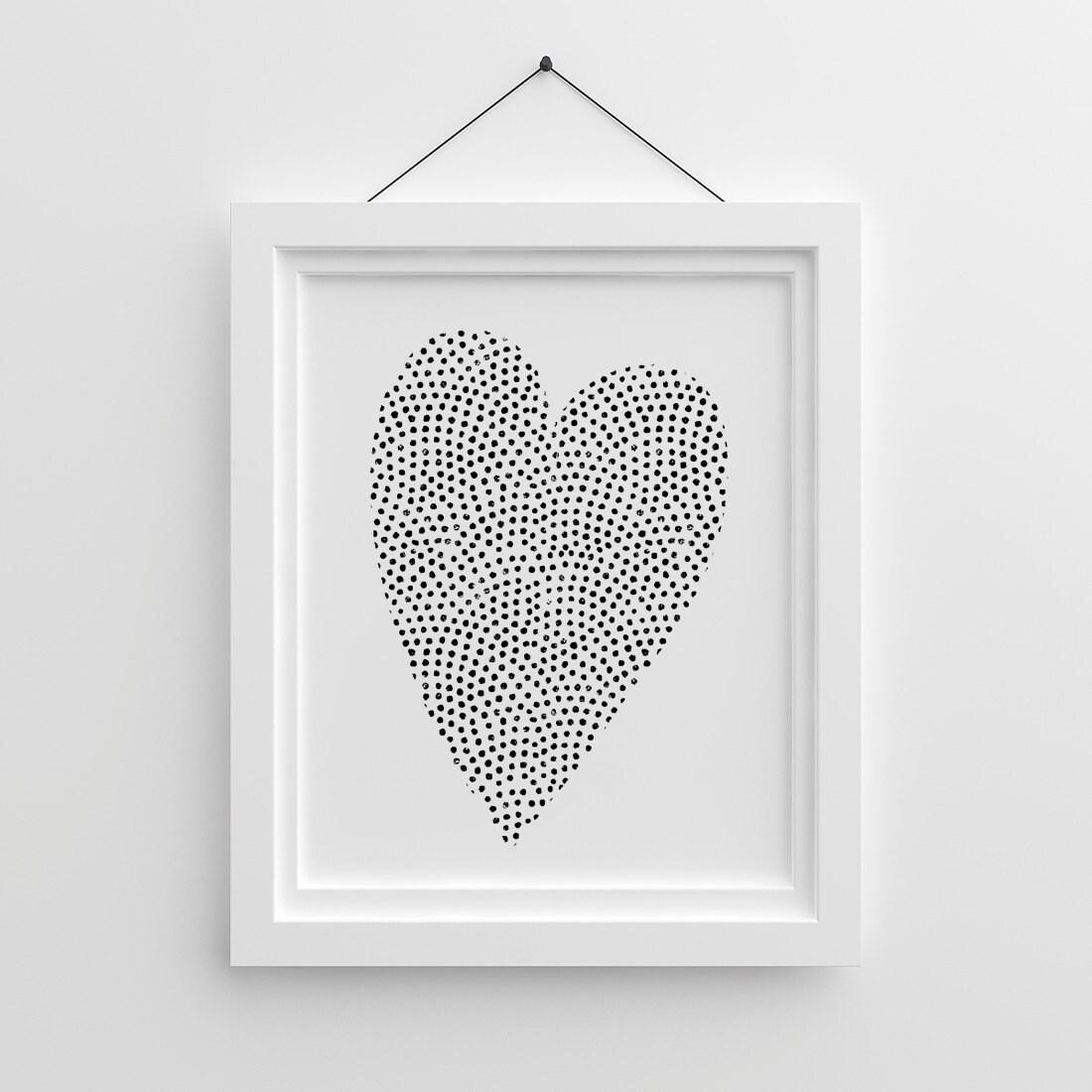 Cartel de Tumblr corazón para imprimir carteles de amor día | Etsy