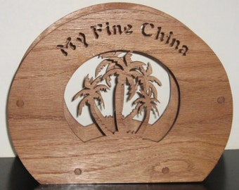 Palm Trees Paper Plate Holder
