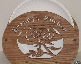 Rose Paper Plate Holder