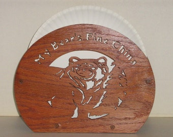 Bear Paper Plate Holder