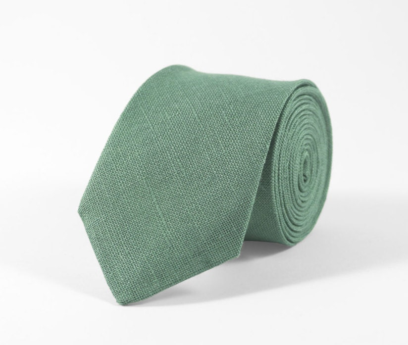 Sage green linen wedding necktie for groomsmen gift, sage green bow ties for men and toddler boys, sage green rustic wedding ideas