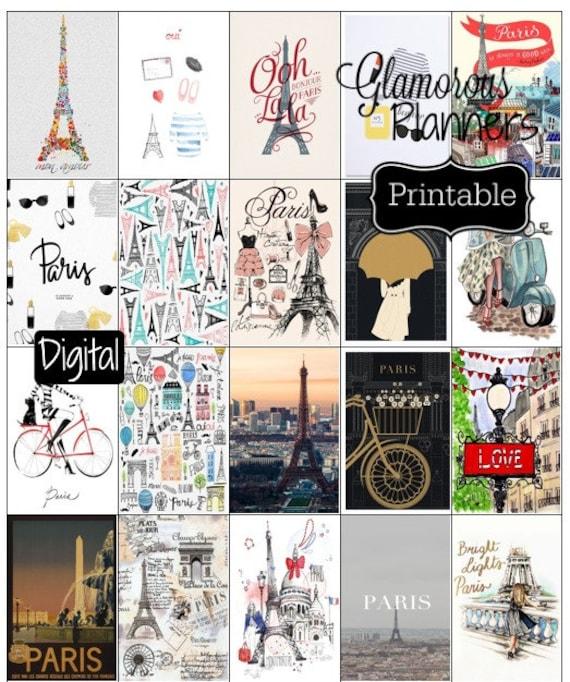 happy planner fun paris girlie stickers printable happy etsy