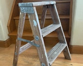 Old Painter 39 s Ladder, Small 2 Rung Wood Ladder, Antique, Step Stool, Rustic Farmhouse, Home Decor, Garden Decor, Yard Art, Plant Stand