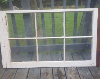 Architectural Salvage Home Decor 5P Farmhouse Wall Hanging Building Supply Old Wood Window Frame 5 Pane Farmhouse Replacement Window