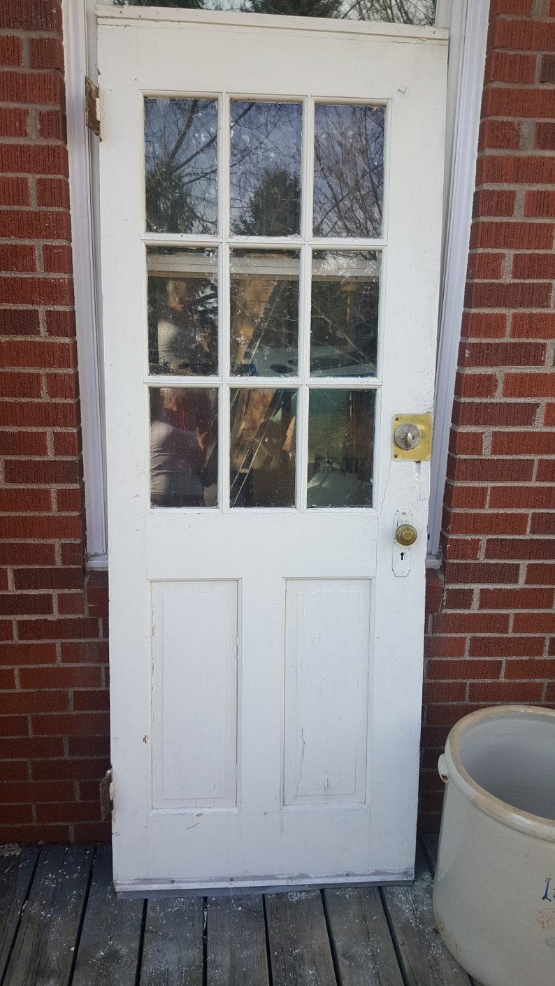 Antique Exterior Solid Wood Door Entry Front Door Window   Etsy on
